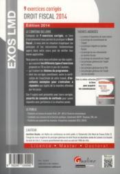 Droit fiscal (édition 2014) - 4ème de couverture - Format classique