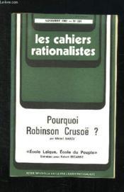 Les Cahiers Rationalistes N° 381 Novembre 1982. Pourquoi Robinson Crusoe? - Couverture - Format classique