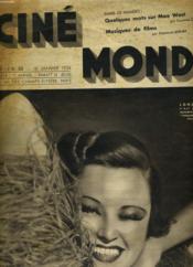 CINEMONDE - 7e ANNEE - N° 274 - Quelques mots sur Mae West - Musiques de films - Couverture - Format classique