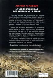 La vie émotionnelle des animaux de la ferme - 4ème de couverture - Format classique