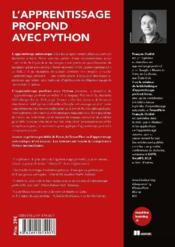 L'apprentissage profond avec python - 4ème de couverture - Format classique
