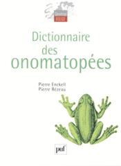 Dictionnaire des onomatopées - Couverture - Format classique
