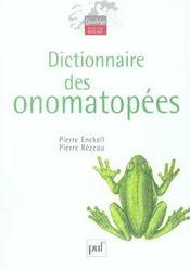 Dictionnaire des onomatopées - Intérieur - Format classique