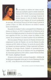 Le temoignage de jeanne de chantal - 4ème de couverture - Format classique