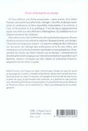 Petite philosophie du design - 4ème de couverture - Format classique