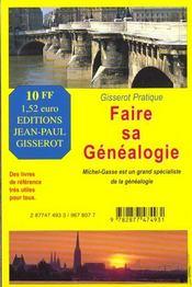 Faire sa généalogie - 4ème de couverture - Format classique