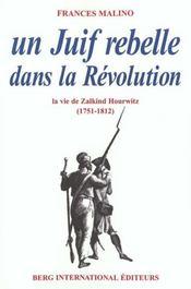 Un Juif rebelle dans la révolution ; la vie de Zalkind Hourwitz (1751-1812) - Intérieur - Format classique