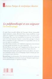 Polyhandicape et son soignant (édition 2004) - 4ème de couverture - Format classique