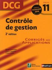 telecharger Controle de gestion DCG – epreuve 11 – corriges (edition 2010) livre PDF en ligne gratuit