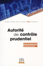 Autorité de contrôle prudentiel - Couverture - Format classique