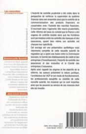 Autorité de contrôle prudentiel - 4ème de couverture - Format classique