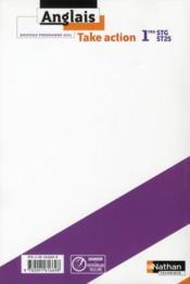 TAKE ACTION ; anglais ; 1res STG/ST2S ; LV1/LV2 ; B1>B2 ; livre de l'élève (édition 2011) - 4ème de couverture - Format classique