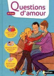 Questions d'amour 8-11 ans - Couverture - Format classique