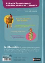 Questions d'amour 8-11 ans - 4ème de couverture - Format classique