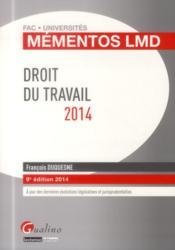 Droit du travail (édition 2014) - Couverture - Format classique