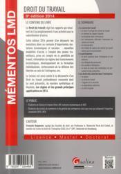 Droit du travail (édition 2014) - 4ème de couverture - Format classique