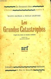 Les Grandes Catastrophes. Collection : Les Documents Bleus. L'Univers N° 8 - Couverture - Format classique