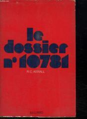 Le Dossier N° 10781. - Couverture - Format classique
