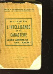 L'Intelligence Et Le Caractere - Couverture - Format classique