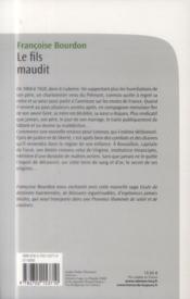 Le fils maudit - 4ème de couverture - Format classique