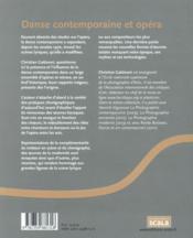 Danse contemporaine et opéra - 4ème de couverture - Format classique