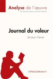 Journal du voleur de Jean Genet ; Résumé complet et analyse détaillée de l'oeuvre - Couverture - Format classique