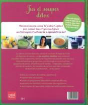 Jus et soupes détox - 4ème de couverture - Format classique