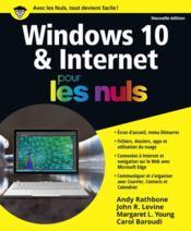 Windows 10 & Internet pour les nuls (édition 2016) - Couverture - Format classique