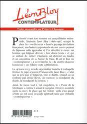 Léon Bloy contemplateur - 4ème de couverture - Format classique