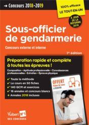 Sous-officier de gendarmerie ; concours externe et interne, catégorie B (édition 2018/2019) - Couverture - Format classique