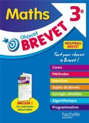 Objectif brevet ; maths ; 3e - Couverture - Format classique