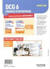 DCG 6 ; finance d'entreprise ; 45 fiches de révision pour réussir l'épreuve (édition 2019/2020) - 4ème de couverture - Format classique