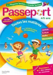 Passeport ; de la moyenne section à la grande section ; toutes les matières - Couverture - Format classique