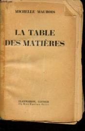 La table des matières - Couverture - Format classique