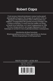 Robert Capa (2e édition) - 4ème de couverture - Format classique