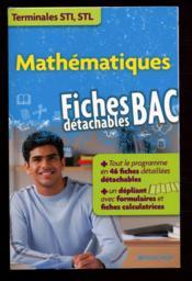 Mathématiques ; STI/STL - Couverture - Format classique