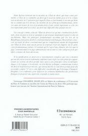 Les principes fondamentaux reconnus par les lois de la republique - 4ème de couverture - Format classique
