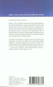 Le regiment des deux siciles babel 192 - 4ème de couverture - Format classique