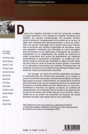 Les transformations des universités du XIII au XXI siècle - 4ème de couverture - Format classique