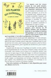 Les plantes qui guerissent le corps et l'esprit - 4ème de couverture - Format classique