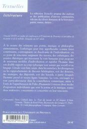 Vox humana. poésie musique individuation - 4ème de couverture - Format classique