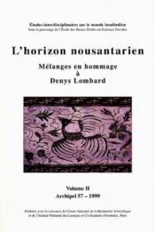 Archipel, n 57/1998. l'horizon nousantarien - Couverture - Format classique
