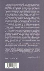 Vatican et la shoah - 4ème de couverture - Format classique