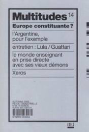 Revue Multitudes T.14 ; Europe Constituante - Couverture - Format classique