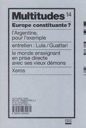 Revue Multitudes T.14 ; Europe Constituante - Intérieur - Format classique
