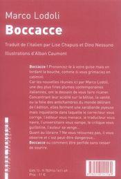 Boccacce - 4ème de couverture - Format classique