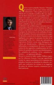 La réparation des préjudices boursiers - 4ème de couverture - Format classique