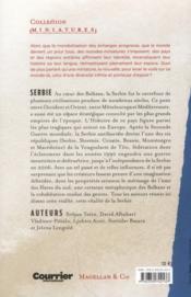 Nouvelles de Serbie - 4ème de couverture - Format classique