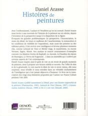 Histoires de peintures - 4ème de couverture - Format classique