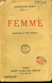 Femme. - Couverture - Format classique